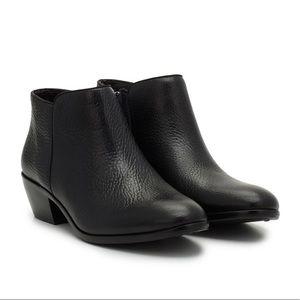 Sam Edelman Petty Black Leather Ankle Boots Sz 8.5
